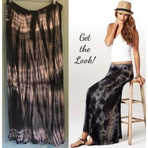 Tie Dye Maxi Skirt Peasant Boho Bohemian Hippy 3X
